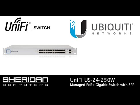 Ubiquiti UniFi US-24-250W PoE+ Managed Gigabit Switch