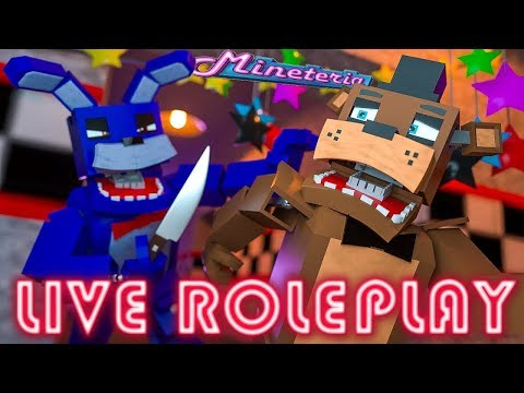 Live Five Nights at Freddys Roleplay - Freddys First Stream! - Fun.mineteria.com