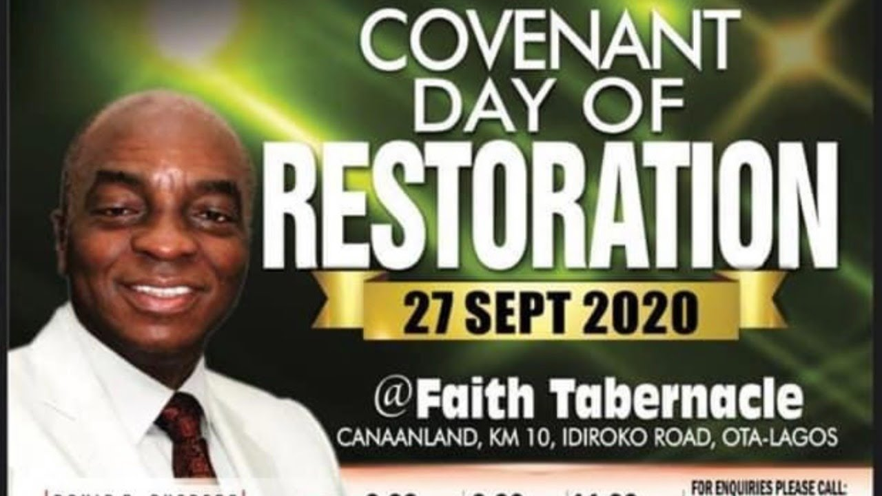 Watch Live: Winners' Chapel Sunday Service 27 September 2020