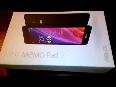 Asus Memo Pad 7  ME70C unboxing
