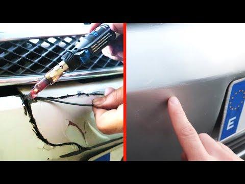 TRUCO   Como Arreglar un Paragolpes Roto   Reparar Parachoques de Coche Partido o Rajado