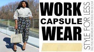 9 FALL WORK OUTFIT IDEAS I CLOTHING CAPSULE  I PLUS SIZE FASHION