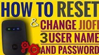 How to change password of jiofi in hindi