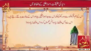 Duniya Ki Haqeeqat Moula Ali K Alfaz   Najaf Tv