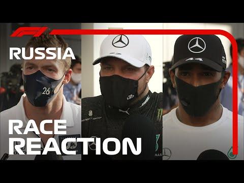 F1 ロシアGP 決勝レース後のドライバーのインタビュー動画。優勝はボッタス。2位にフェススタッペン。