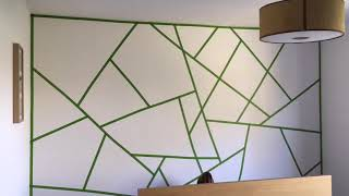 How To Paint A DIY Geometric Feature Wall In Four Easy Steps