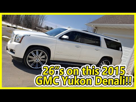 26 Inch 2Crave Wheels with Spiked Lugs  On A 2015 GMC  Yukon Denail XL