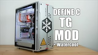 Fractal Design Define C TG Tempered Glass Mod And Custom Water Cooling Loop