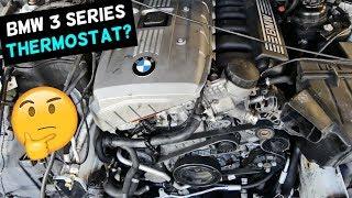 WHERE IS THE THERMOSTAT LOCATED ON BMW E90 E91 E92 E93
