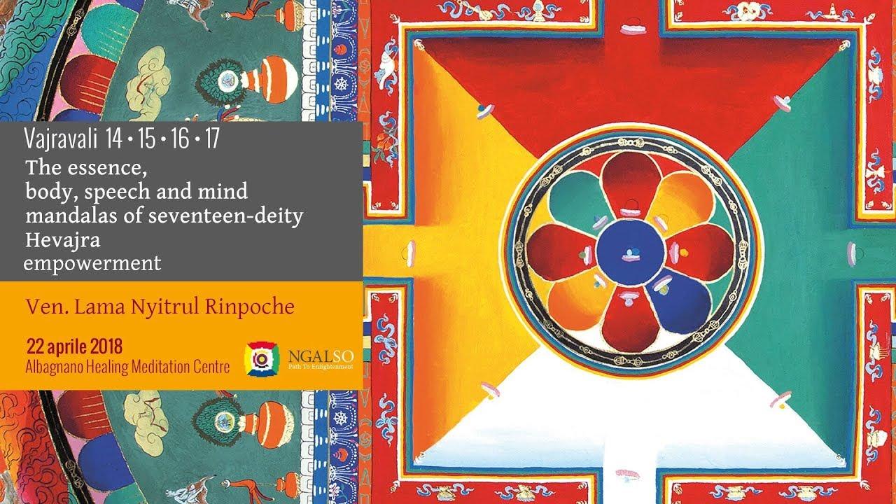 Vajravali 14-15-16-17 -The essence, body, speech and mind mandalas of seventeen-deity Hevajra empowerment