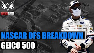 NASCAR DFS Picks - GEICO 500 | NASCAR DraftKings & FanDuel Strategy