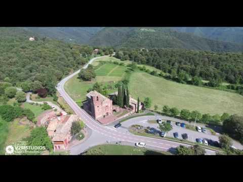 El Brull parque natural del Montseny vista aérea con Phantom 4
