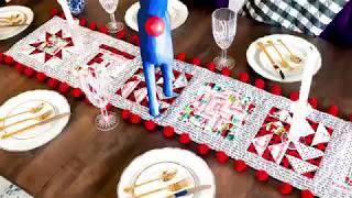 Christmas Sampler Quilt Table Runner Tutorial