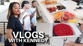 HE SENT FLOWERS +  WE COOKED TOGETHER (VLOG WITH FRIENDS)