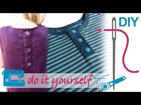 """Knopfleiste, Knopflochleiste nähen für Anfänger – DIY Shirt """"Winnie"""""""