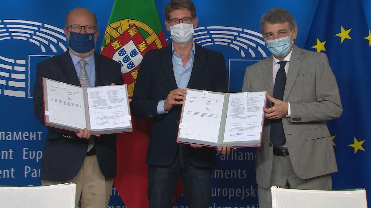 Τελετή υπογραφής της Ευρωπαϊκού Νόμου για το Κλίμα (πλάνα)