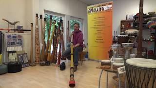preview picture of video 'Slide Didgeridoo - Reise Travel Didgeridoo - Tonhöhen verstellbar über 1 Okatve'
