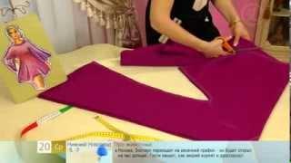 Смотреть онлайн Как сшить платье в стиле ретро с рукавами клеш