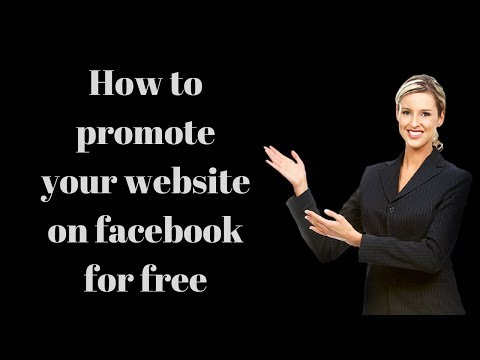 how to promote your website on facebook for free