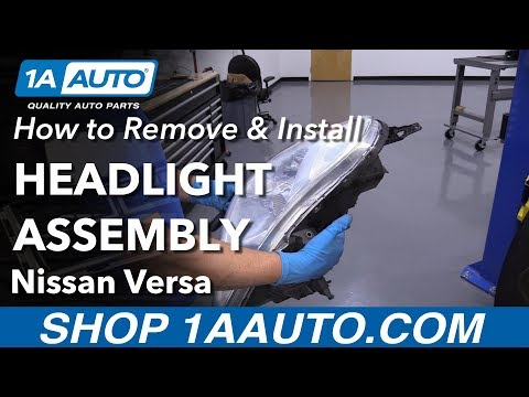 How to Replace Headlight Assembly 12-14 Nissan Versa