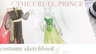✨ the cruel prince: jude & cardan | costume sketchbook ✨