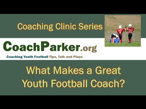 What Makes a Great Youth Football Coach - YouTube