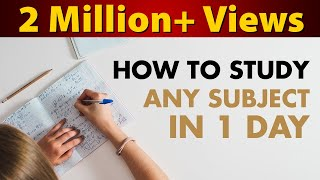 How to Study any Subject in Just One Day? | Last Minute Revision | LetsTute