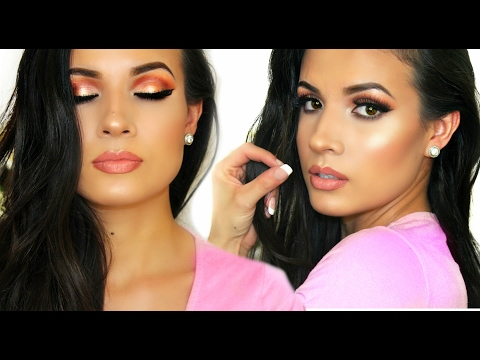 Valentines Makeup Peach Palette AdriLunaMakeup