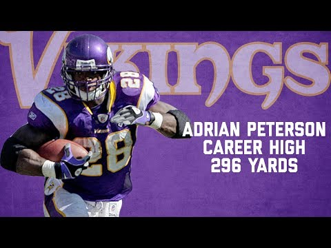 Adrian Peterson Highlights from Career-High 296-Yard Game | Chargers vs. Vikings (2007) | NFL