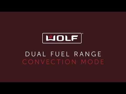 Wolf Dual Fuel Range - Convection Mode