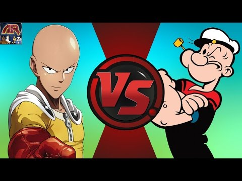 ONE PUNCH MAN (Saitama) vs POPEYE! Cartoon Fight Club Episode 121