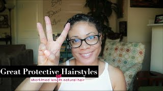 Protective Styles For Short Natural Hair | NO WEAVE!