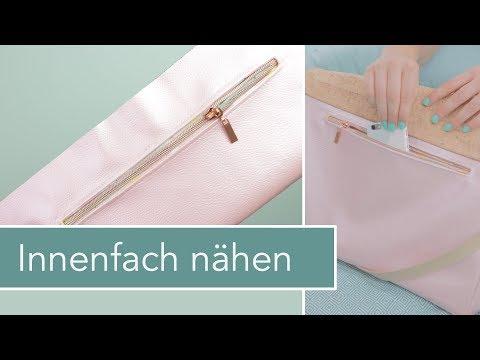 Innentasche mit Reißverschluss nähen – Taschen individualisieren Technik