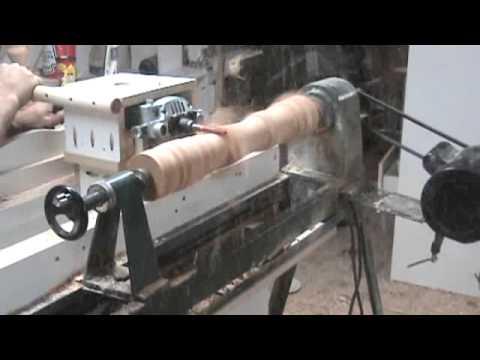 木製柱子這樣做,在削的時候超有感覺的!