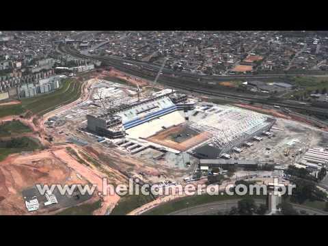 Vista aérea da Arena Corinthians em 06/02/2013