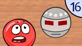 Новый Несносный КРАСНЫЙ ШАР #16. Роботы. Мультик ИГРА New Red Ball 2 на Игрули TV