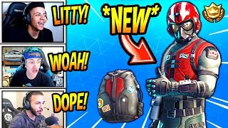 "STREAMERS REACT TO *NEW* ""WINGMAN"" SKIN! (STARTER PACK) Fortnite SAVAGE & FUNNY Moments"