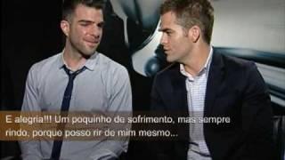 Star Trek, Chris Pine e Zachary Quinto discutem que nem Kirk e Spock