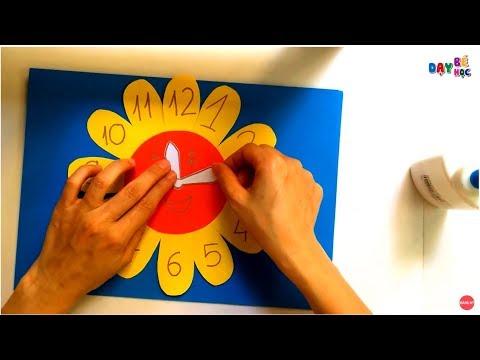Dạy bé làm đồng hồ bằng giấy