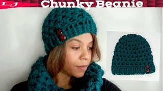 Quick Chunky Crochet Beanie Pattern -  Substitute Worsted Weight Yarn For Super Bulky