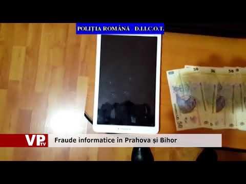 Fraude informatice în Prahova și Bihor