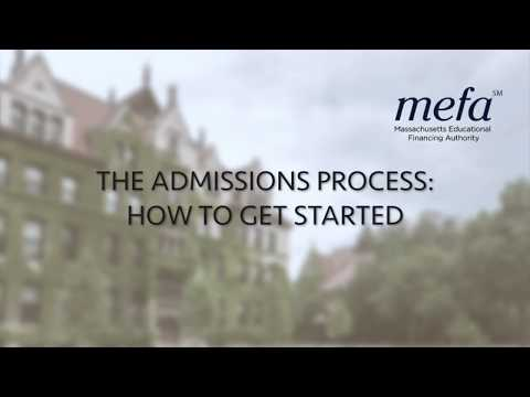 The Admissions Process: How to Get Started