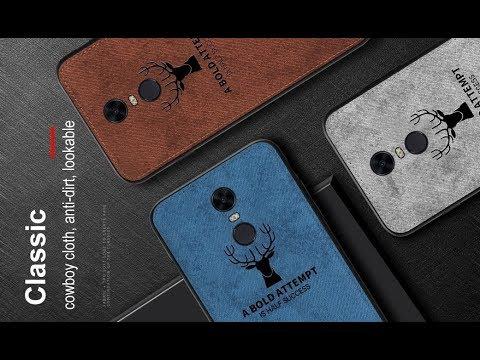 Тканевый чехол для Xiaomi Redmi 5 Plus и Redmi 5