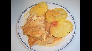 Индюшиная грудка с картошкой