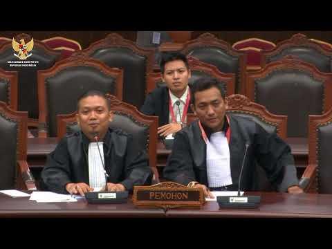 [ LIVE ] Sidang Pengujian Undang-Undang Nomor 7 Tahun 2017 tentang Pemilihan Umum