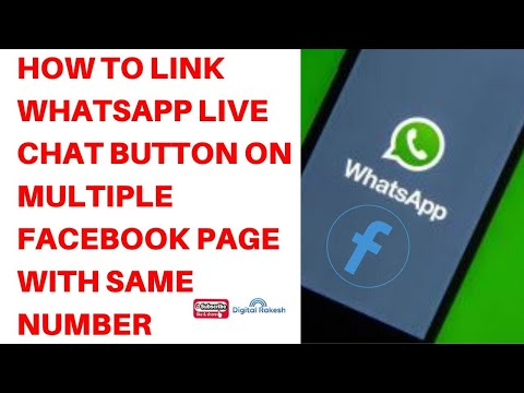 How to link live Chat Button on multiple Facebook Page with same number