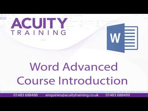Word Advanced Training Course - Course Content - YouTube