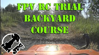 FPV RC Trial, backyard course with Tamiya CC-01