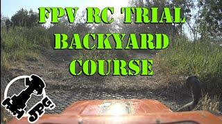 FPV RC Trial, backyard course with Tamiya CC-01