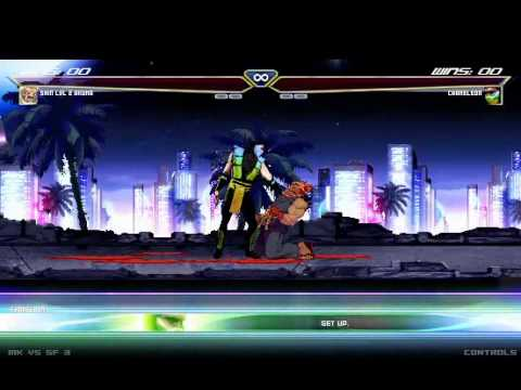MK vs SF: Chameleon vs Shin Akuma (Actual Fight) [2 of 2]